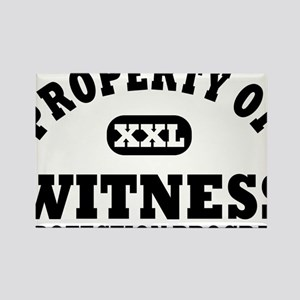 Property of Witness Protection Pr Rectangle Magnet