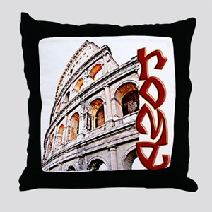 rome-coliseum-t-shirt Throw Pillow