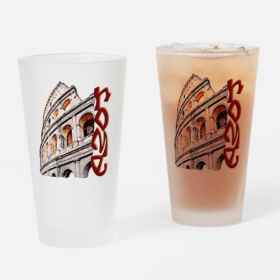 rome-coliseum-t-shirt Drinking Glass