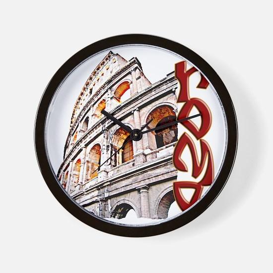 rome-coliseum-t-shirt Wall Clock
