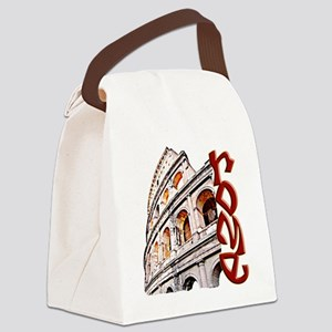 rome-coliseum-t-shirt Canvas Lunch Bag