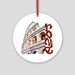 rome-coliseum-t-shirt Round Ornament