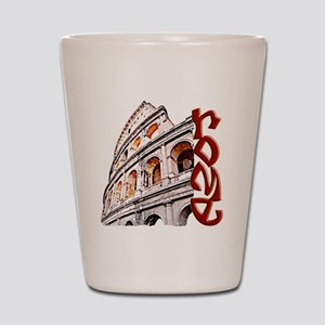 rome-coliseum-t-shirt Shot Glass