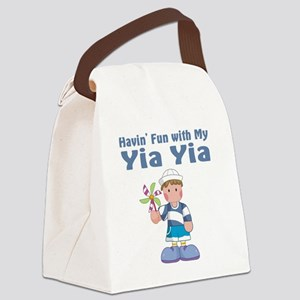 fun with yia yia Canvas Lunch Bag