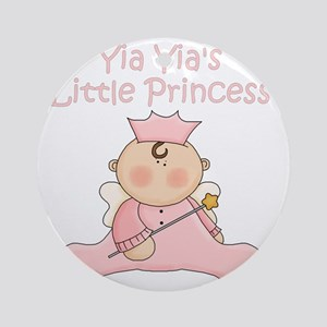 yia yias little princess Round Ornament