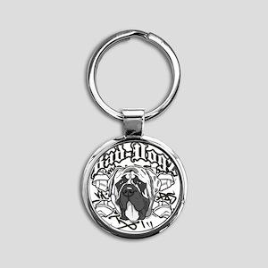English Mastiff Round Keychain