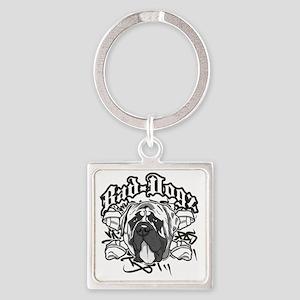 English Mastiff Square Keychain
