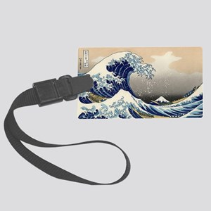 great_wave_5x3rect_sticker Large Luggage Tag
