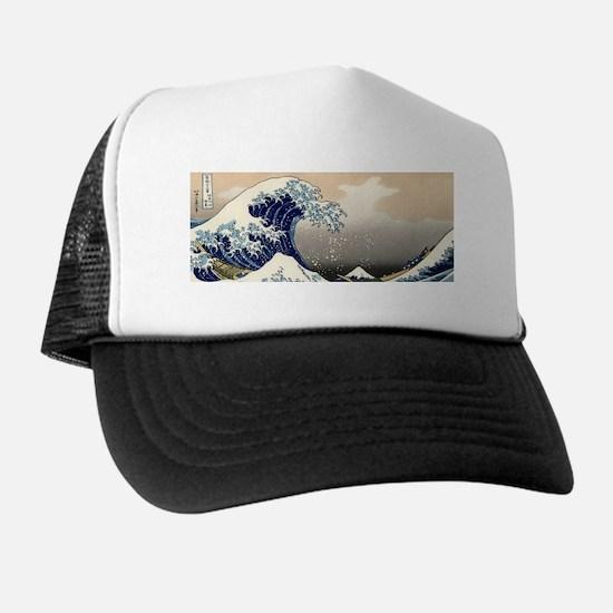 great_wave_8.31x3_bev Trucker Hat