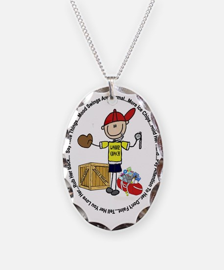 Laborcoach Necklace Oval Charm