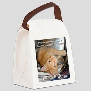 2-tabby Canvas Lunch Bag