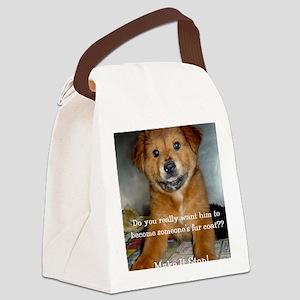 2-Lady2B Canvas Lunch Bag