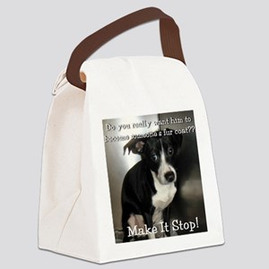 2-Scared Canvas Lunch Bag