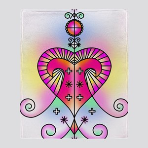 erzulie heart colored Throw Blanket
