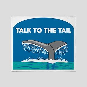 FIN-whale-talk-tail Throw Blanket