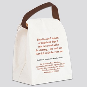 Make It Stop! Canvas Lunch Bag