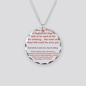 Make It Stop! Necklace Circle Charm