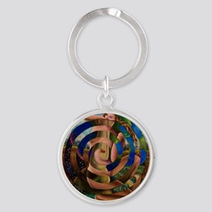 Atlas and Aphrodite Round Keychain