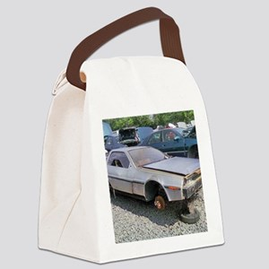 Junkyard_Delorean Canvas Lunch Bag