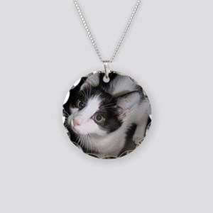 2-MeowCowKitty Necklace Circle Charm