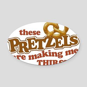 Pretzels3 Oval Car Magnet