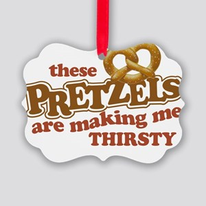 Pretzels3 Picture Ornament