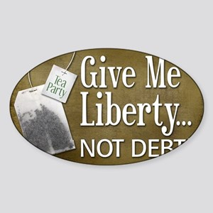 02-15_liberty-orig Sticker (Oval)