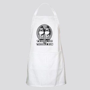 Tweedle Dee and Tweedle Dum Logo Apron