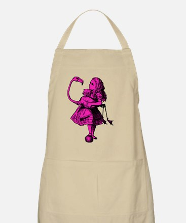 Alice and Flamingo Inked Pink Fill Apron