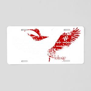 scarlet_ibis_1b Aluminum License Plate