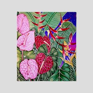 Image78 Anthurium Dusk Throw Blanket