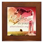 Believe in Yourself Framed Tile