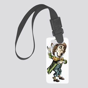 alice card_mad_hatter Small Luggage Tag