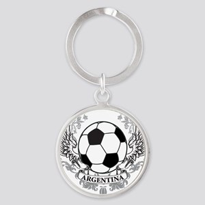 2-argentina Round Keychain