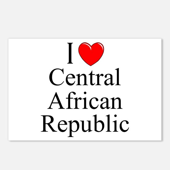 """I Love Central African Republic"" Postcards (Packa"
