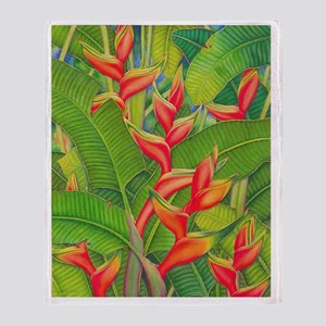 Image116Heliconia Throw Blanket