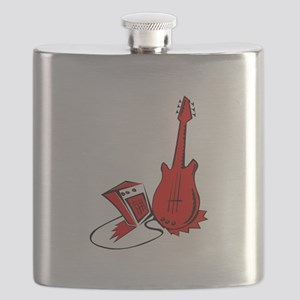 guitar amp stylized red Flask