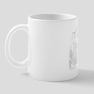 Evo - X - White Design - Dark Color Bac Mug