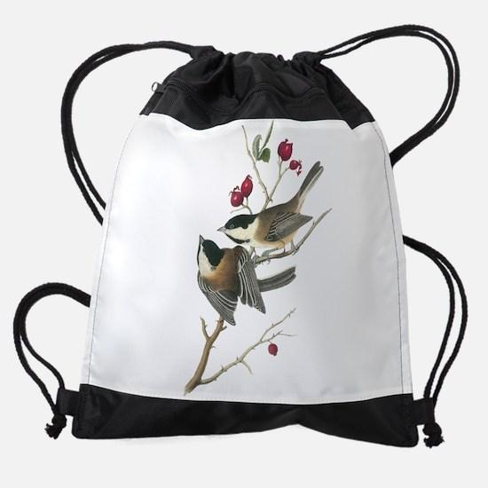 Black-capped Chickadee Drawstring Bag