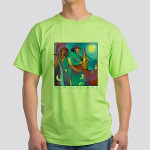 NO Poster 10inches high Green T-Shirt