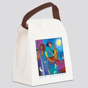 NO Poster 10inches high Canvas Lunch Bag