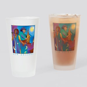 NO Poster 10inches high Drinking Glass
