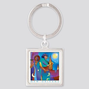 NO Poster 10inches high Square Keychain