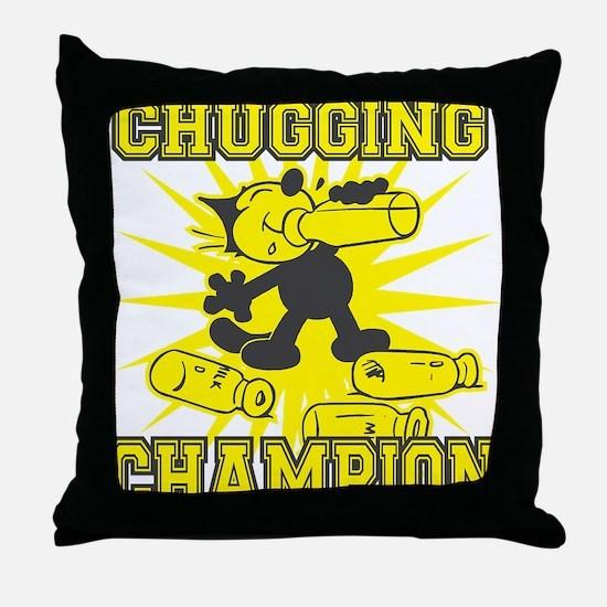 3-chuggingchampion Throw Pillow
