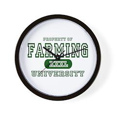 Farming University Wall Clock