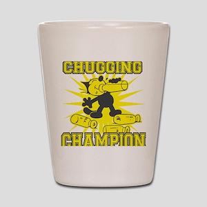 3-chuggingchampion Shot Glass