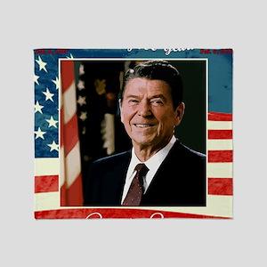 Ronald_Reagan_100th_12x12 Throw Blanket