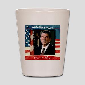 Ronald_Reagan_100th_12x12 Shot Glass