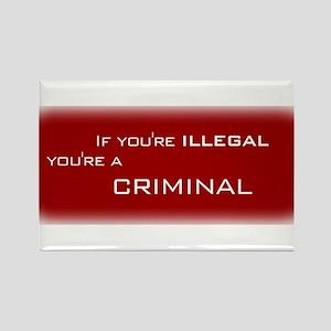 Illegals are Criminals Rectangle Magnet