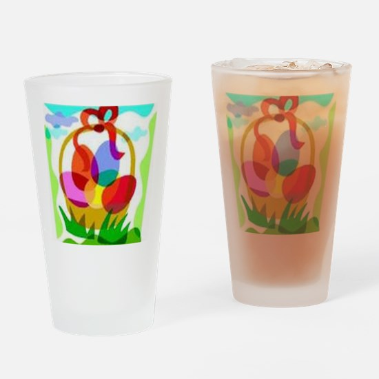2-easter basket Drinking Glass
